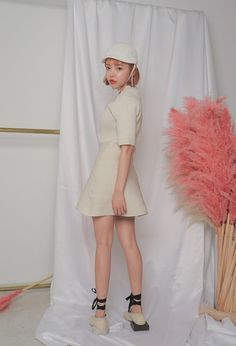 Ribbed A-Line Dress | STYLENANDA
