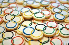 Olympic Ring Cookies by Kelley Hart Custom Cookies