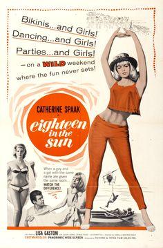 Eighteen in the Sun (1962) Italian beach film starring Catherine Spaak & Lisa Gastoni