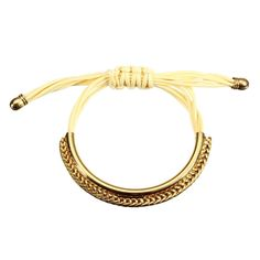 Leather Gold Plated Adjustable Bracelets