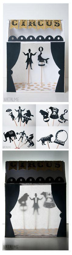 Shadow box puppet theater tutorial at www.natalme.com