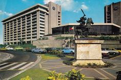 The Peninsula Manila (colloquially Manila Pen/Manila Peninsula), is a 5-star hotel in the Philippines. It is located on the corner of Ayala Avenue and Makati Avenue in the central business district of Makati City. Circa 1980