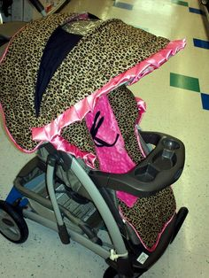 Custom Boutique Cheetah Hot Pink Graco Quattro Stroller Cover-Ready To Ship.. $139.00, via Etsy.
