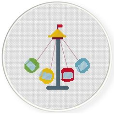 FREE for April 15th 2015 Only - Swing Ride Cross Stitch Pattern