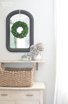 Muted entryway decor