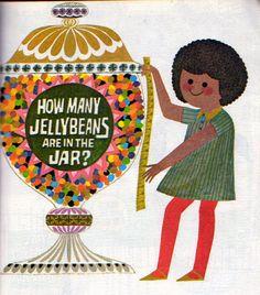"""""""Never Pat a Bear: A Book About Signs"""" Art Seiden Illustration, 1971"""