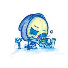 Imagem de Skeletor A5 impressão!