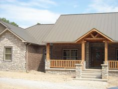 metal roof houses | Metal Roof, standing seam provided by Donahue Roofing Inc West Plains ...