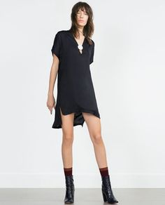 Image 1 of METALLIC APPLIQUÉ TUNIC from Zara