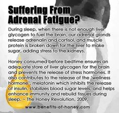 Honey for Adrenal Fatigue?? Something to research......
