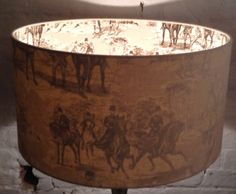 50cm Inside Out Hunting Toile Lampshade by TheLitttleBrickHouse on Etsy