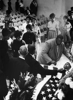 Mourners bid farewell to slain NAACP official Medgar Evers at his funeral, Jackson, Miss., June 15, 1963.