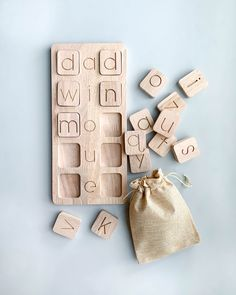 These simple but beautiful Wooden boards are designed to help children learn how to blend and segment letters to create CVC (Consonant, Vowel, Consonant) words in a fun and inviting way. Montessori Toddler, Montessori Toys, Toddler Toys, Montessori Bedroom, Diy Sensory Board, Baby Sensory, Educational Toys For Kids, Wood Toys, Diy Toys