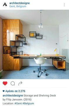 4a539457d380 Desk wood- metal Industrial Office Storage