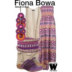 Inspired by Minnie Driver as Fiona Bowa on About A Boy.
