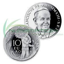 VATICAN CITY 10 EURO SILVER COIN 2013 PRAYER FOR VOCATIONS PROOF IN BOX + COA Prayer For Vocations, Vatican City, Rare Coins, Silver Coins, Euro, Stamps, Prayers, History, Box