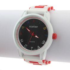 Sale 15% (6.19$) - Letter Rubber Big Dial Silicone Women Quartz Wrist Watch