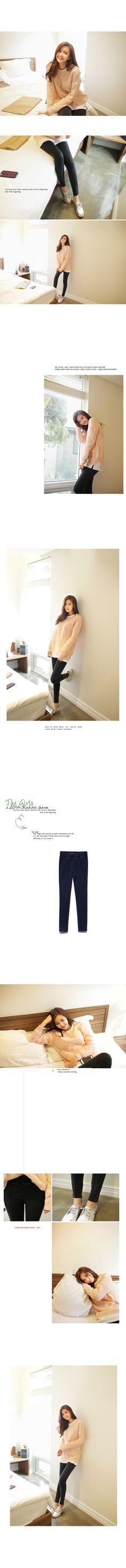 ラインポイントレギンスパンツ・全2色デニム・ジーンズデニム・ジーンズ|レディースファッション通販 DHOLICディーホリック [ファストファッション 水着 ワンピース]