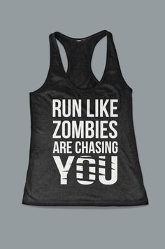 Run Like Zombies Are Chasing You Women's Work Out Tank Top Next Level Under 20 on Etsy, $15.95
