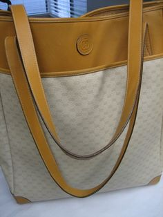 Gorgeous Authentic Extra Large Tan Gucci Tote by CLASSYBAG on Etsy