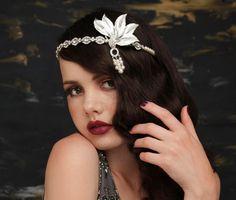 Great Gatsby Headpiece  Vintage 1920's Art by VintageHeaddresses