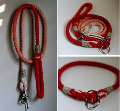 CUSTOM Ombre Rope Dog Leash and Choke by GreenTroutOutfitters
