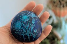 Painted stone. by kelli