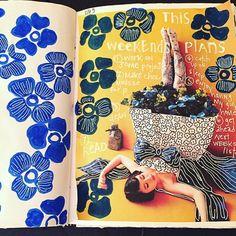 Art journal page by Nullsie on Instagram