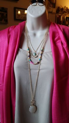 Jolie Necklace & Avery Necklace (long)