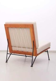 Eva Lisa 'Pipsan' Saarinen Swanson; 'Sol-Aire' Lounge Chair for Ficks-Reed, 1950s.
