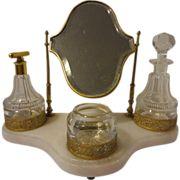 Antique Victorian B. Perfume Bottles in Velvet Box