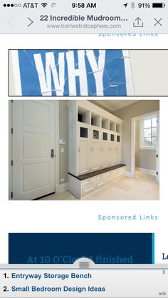 Mud room lockers. Close the door on all the clutter.