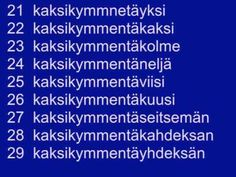 Counting in Finnish. I've done this multiple times but I never remember them later lol Learn Finnish, Finnish Language, Finnish Words, Language Quotes, After High School, High School Graduation, Marimekko, My Heritage, English Quotes