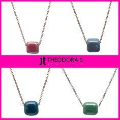 Νο1 trend in necklaces is here! Stainless steel necklace with colorful bead!------------------------------------------------- Η Νο1 τάση για φέτος στα κολιέ είναι εδώ!  Μόνο 12.50€! Ατσάλινα κολιέ με χρωματιστές χάντρες!