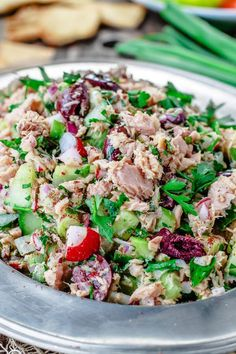 Give your tuna salad a delicious Mediterranean spin with chopped vegetables, fresh herbs and a zesty Dijon vinaigrette! Out-of-this-world! No heavy mayo!