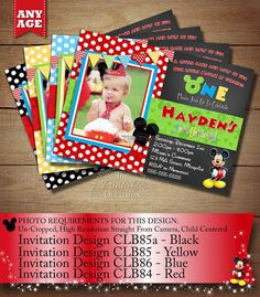 Mickey Mouse ClubHouse Invitation Mickey by ThePrintableOccasion