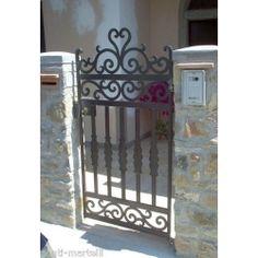 Wrought Iron Pedestrian Gate. Customize Realisations. 089 Pedestrian, Wrought Iron, Gate, Divider, Room, Furniture, Home Decor, Entryway, Bedroom