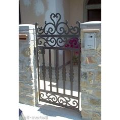 Wrought Iron Pedestrian Gate. Customize Realisations. 089