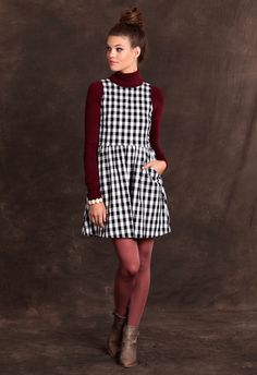 Turtlenecks and dresses are an adorable pairing for the fall season.