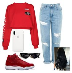 """Untitled #1"" by siyahdoll on Polyvore featuring Tommy Hilfiger and Topshop"