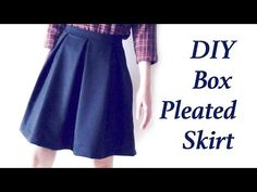 Sewing + DIY Box Pleated Skirt Step by Step Tutorial ✂️ Easy Sewing How to make a Box Pleat skirt ✂️ DIY Costura ♡ ボックスプリーツスカートの作り方 :) Instagram : @a.y.a__ T...