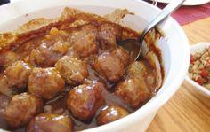 Mom's Hawaiian BBQ Meatballs