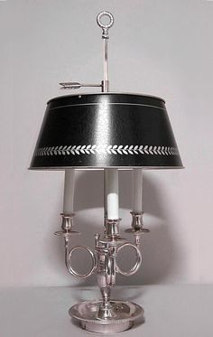 French Empire lighting bouillotte lamp silver-plate