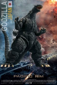 Fictional Team Japan in Pacific Rim...Godzilla the good guy Kaiju, depending on the movie...and Kaiju vs. Kaiju action is just cool...
