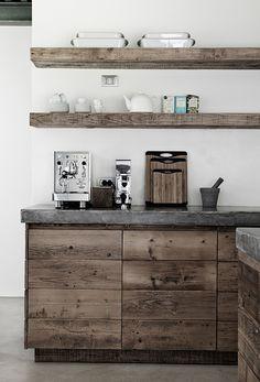 amazing rustic-stile open kitchen shelving design - Shelterness