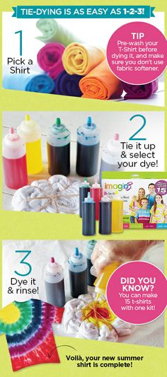 DIY Tie Dye Fashion, as easy as 1-2-3