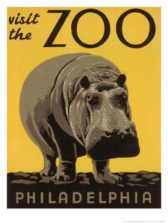 Visit the Philadelphia Zoo Lámina