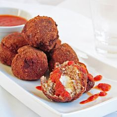 Crispy Fried Meatballs w/ Cream Cheese Filling - you know you want it!