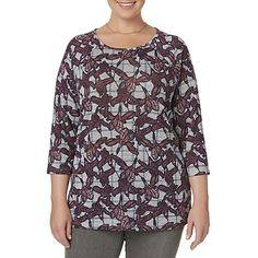 dd86b8ec630fd Kmart.com. I Really AppreciateFloral Tops. Laura Scott Laura Scott Women s  Plus ...