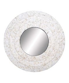 Look at this #zulilyfind! Round Shell Mirror #zulilyfinds